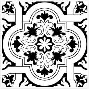 Azulejo 15.5x15.5 -  Português Home 12 - Preto Lançamento