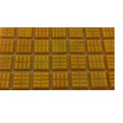 Pastilha AMARELO DAMASCO - 2x2cm- 75 pastilhas