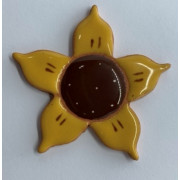 Aplique de cerâmica - Flor Amarela 445