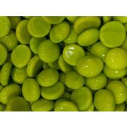 Gemas de vidro verde  -10un