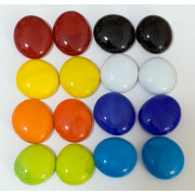 Gemas de vidro coloridas