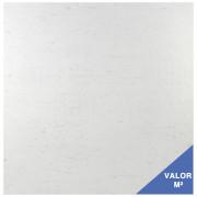 Piso cerâmico Gyotoku 42x42 branco com leves manchas em cinza