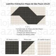 Ladrilho Hidráulico 20x20 - Calçada Mapa São Paulo