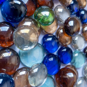 Gemas de vidro - Mix de cores com reflexo furta cor