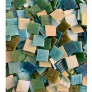 Mix de verdes e turquesas - 2x2 - 360 un