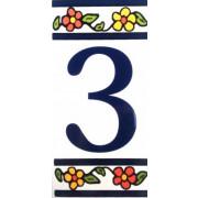 Número para Casa em azulejo-Nº3