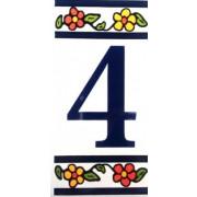 Número para Casa em azulejo-Nº4