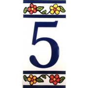 Número para Casa em azulejo-Nº5