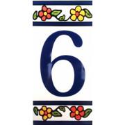 Número para Casa em azulejo-Nº6