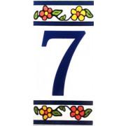 Número para Casa em azulejo-Nº7
