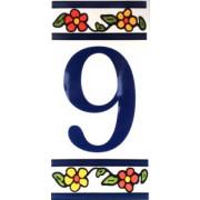 Número 9 para Casa em Azulejo