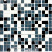 Pastilha para mosaico Preta,Branca e Cinza - 225 un