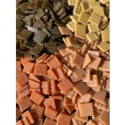Pastilhas para mosaico - Mix marrom e bege - 2x2 - 225 un