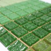 Pastilhas para Mosaico - Mix de Verde Pigmentadas - 225 un
