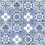 Patchwork de Azulejos Português - 16 Peças #GB101