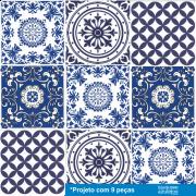 Patchwork de Azulejos Português - 9 Peças PTA02