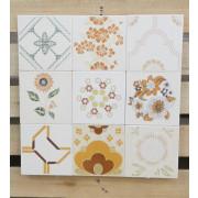 Patchwork de Azulejos Antigos com 9 peças - PA70