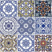 Patchwork de Azulejos Português - 9 Peças KL105