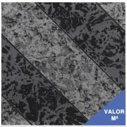 Piso cerâmico Sumaré 30X30 - cinza com preto - 92