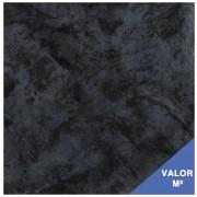 Piso Cerâmico Portobello 29.5x29.5 Azul com Preto 97