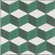 Ladrilho Hidráulico 20x20 - Cubo LC4 - M²