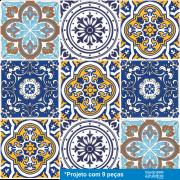 Patchwork de Azulejos Português- 9 Peças PT01